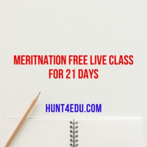Meritnation Free Live Class For 21 Days