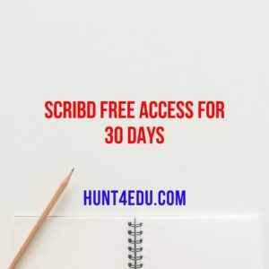 SCRIBD Free Access for 30 Days