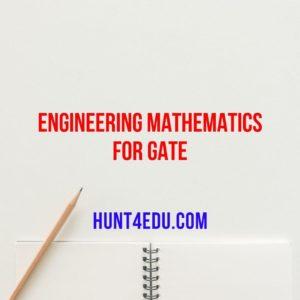 Engineering Mathematics for GATE