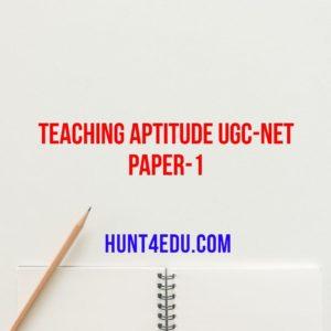 TEACHING APTITUDE UGC-NET PAPER-1