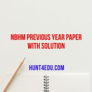 NBHM PREVIOUS YEAR PAPER WITH SOLUTION