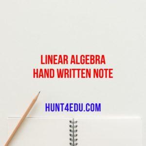 LINEAR ALGEBRA HAND WRITTEN NOTE