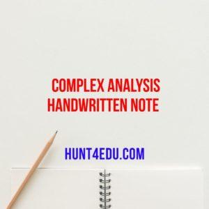 COMPLEX ANALYSIS HANDWRITTEN NOTE BY S K RATHORE