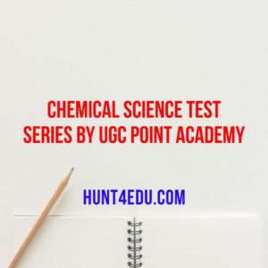 best chemical science test series by ugc point academy