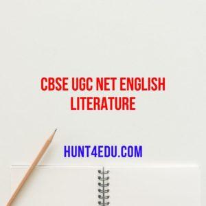 cbse ugc net english literature