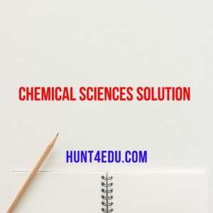 chemical science series