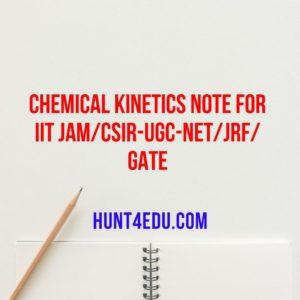 chemical kinetics note for iit jam/csir-ugc-net/jrf/gate