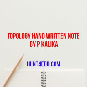 topology hand written note by p kalika
