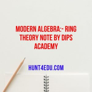 ring theory note by dips academy