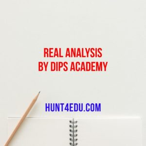 real analysis by dips academy
