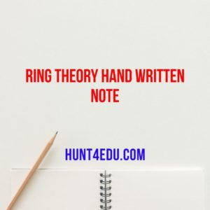 ring theory hand written note