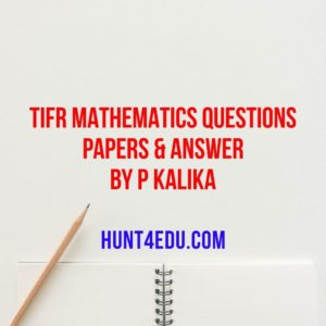 tifr mathematics questions papers & answer by p kalika
