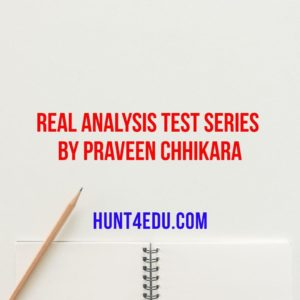real analysis test series by praveen chhikara