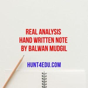 real analysis hand written note by balwan mudgil