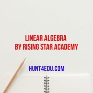 linear algebra by rising star academy