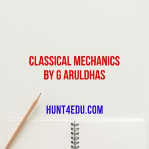 classical mechanics by g aruldhas