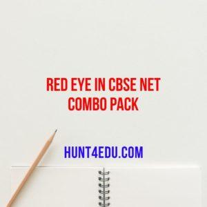 red eye in cbse net combo pack
