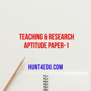 teaching & research aptitude paper 1