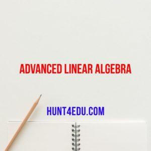 advanced linear algebra by bruce n cooperstein