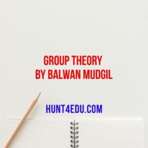 group theory by balwan mudgil