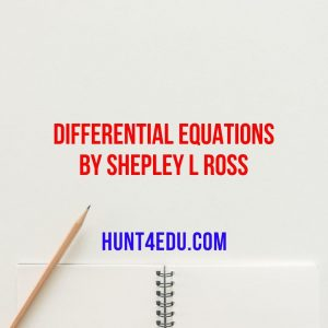 differential equations by shepley l ross