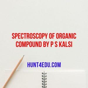 spectroscopy of organic compound by p s kalsi