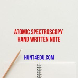 atomic spectroscopy hand written note