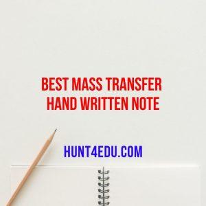 best mass transfer hand written note