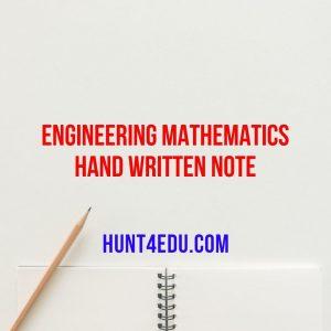 engineering mathematics hand written note