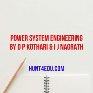 power system engineering by d p kothari & i j nagrath