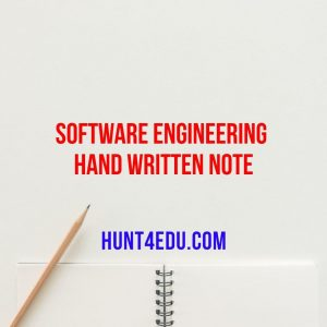 software engineering hand written note