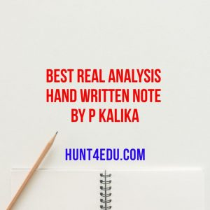 best real analysis hand written note by p kalika
