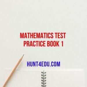 mathematics test practice book 1