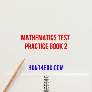 mathematics test practice book 2
