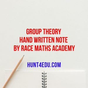 group theory hand written note by race maths academy