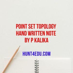 point set topology hand written note by p kalika