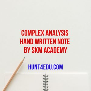 complex analysis hand written note by skm academy