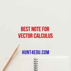 best note for vector calculus