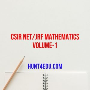 csir net/jrf mathematics volume-1