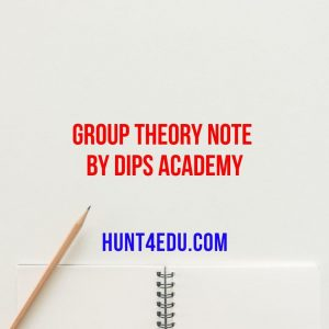 group theory note by dips academy