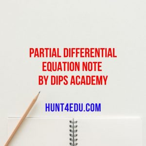 partial differential equation note by dips academy