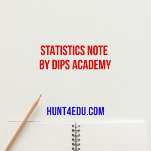 statistics note by dips academy