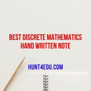best discrete mathematics hand written note
