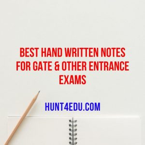 best hand written notes for gate & other entrance exams
