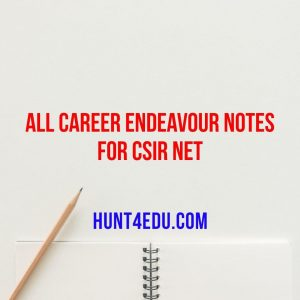 all career endeavour notes for csir net