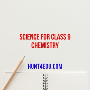 science for class 9 chemistry