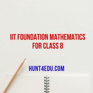 iit foundation mathematics for class 8
