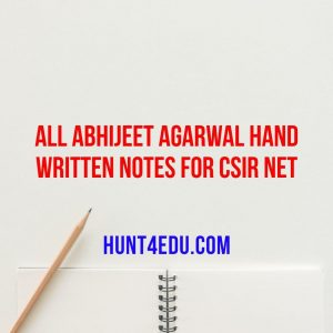 all abhijeet agarwal hand written notes for csir net