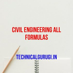 civil engineering all formulas