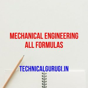 mechanical engineering all formulas